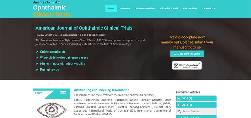 Launch of a New Ophthalmology Journal