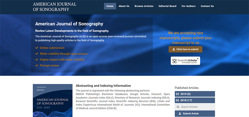 Launch of American Journal of Sonography