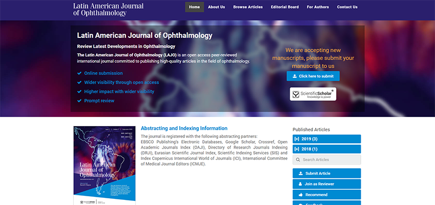 Launch of a New Ophthalmology Journal promoting academia in Latin America
